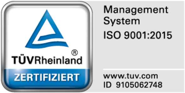 Certification according to DIN ISO 9001:2015